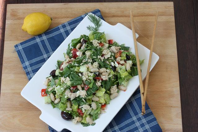 Salade bretonne au thon et cocos paimpolais