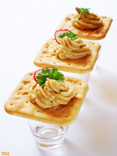 Crackers aux rillettes de sardine